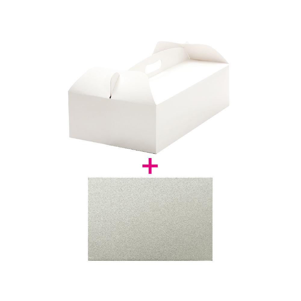 """Boîte d'emballage + plateau de présentation """"rectangle"""""""